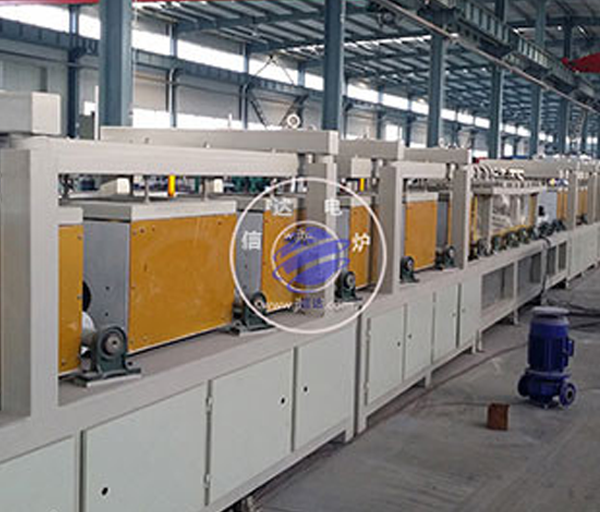 Round steel tempering production line