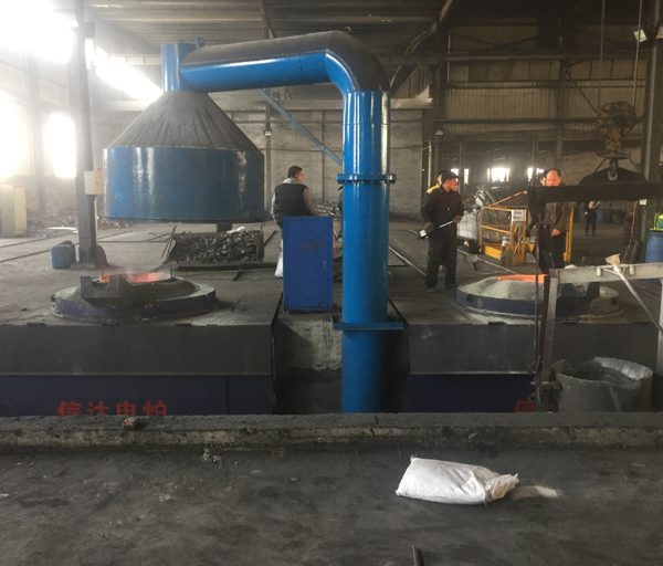 Application site of 5t one driven two steel shell furnace