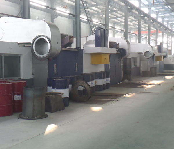 Application site of 5t steel shell furnace with cyclone dust removal