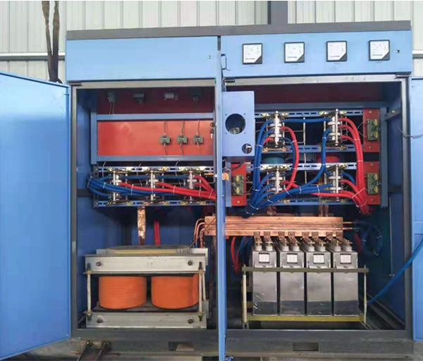 Inside of 800KW triple voltage silicon controlled energy-saving power supply